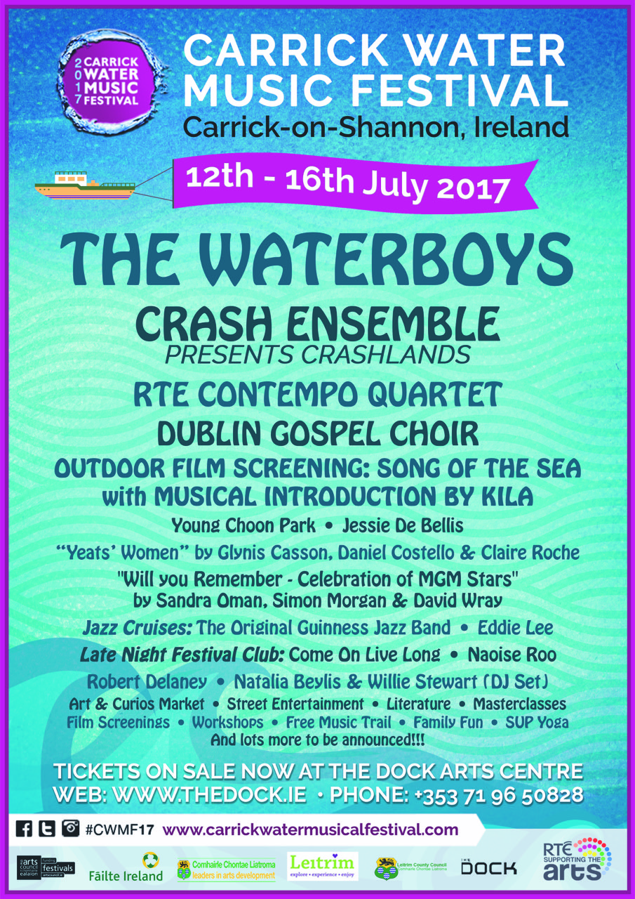 Carrick Water Music Festival 2017 Line Up Poster
